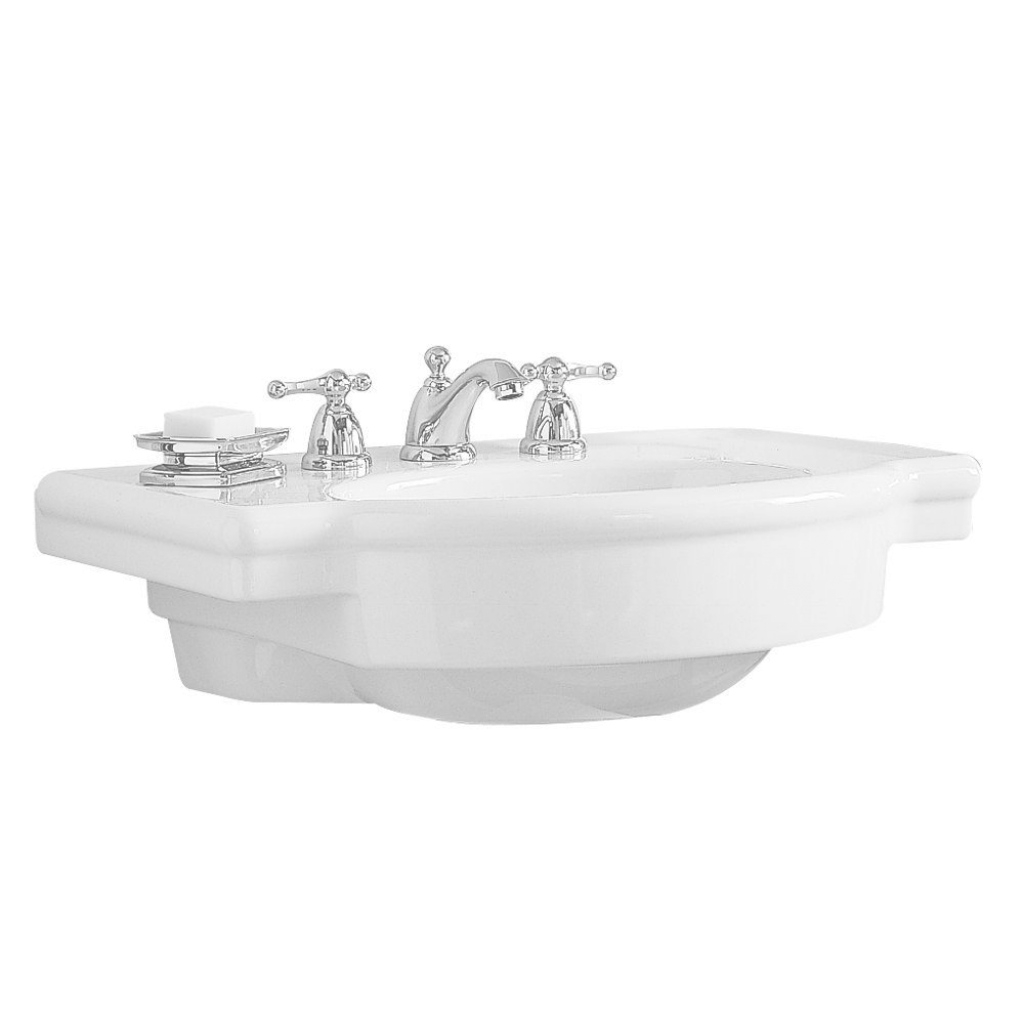 Fabulous American Standard Retrospect 27 In. W Pedestal Sink Basin In White pertaining to Standard Bathroom Sink