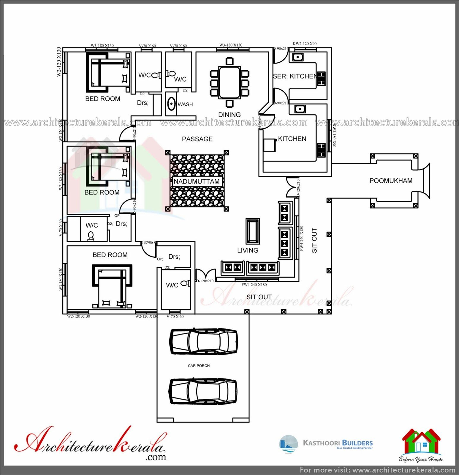 Fabulous Architecture Kerala: Traditional House Plan With Nadumuttam And with regard to Kerala House Design With Floor Plans