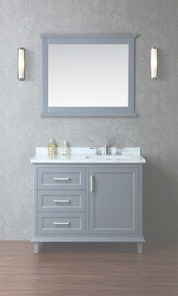"Fabulous Arielseacliff Nantucket 42"" Single-Sink Bathroom Vanity Set With with regard to Single Sink Bathroom Vanity"