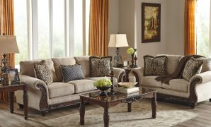 Fabulous Ashley Furniture Laytonsville Livingroom Set In Pebble | Best Priced intended for Best of Ashley Living Room Sets