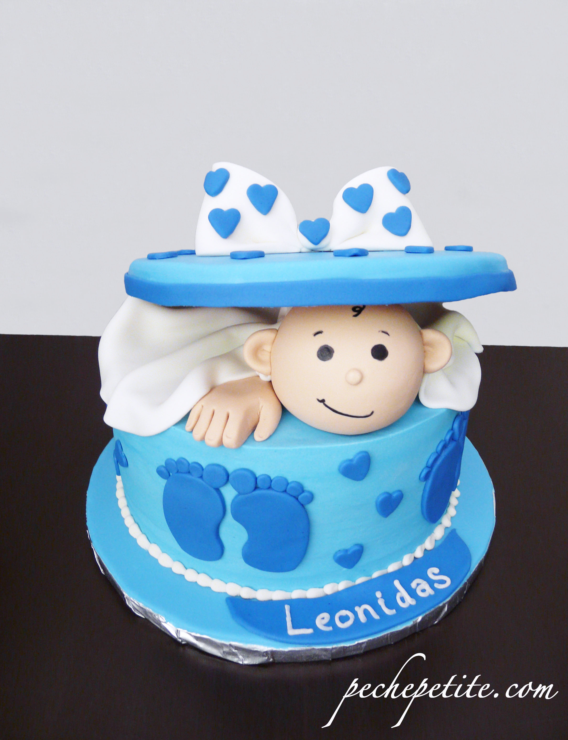 Fabulous Baby Boy Shower Cakes | Peche Petite intended for Review Baby Boy Shower Cakes
