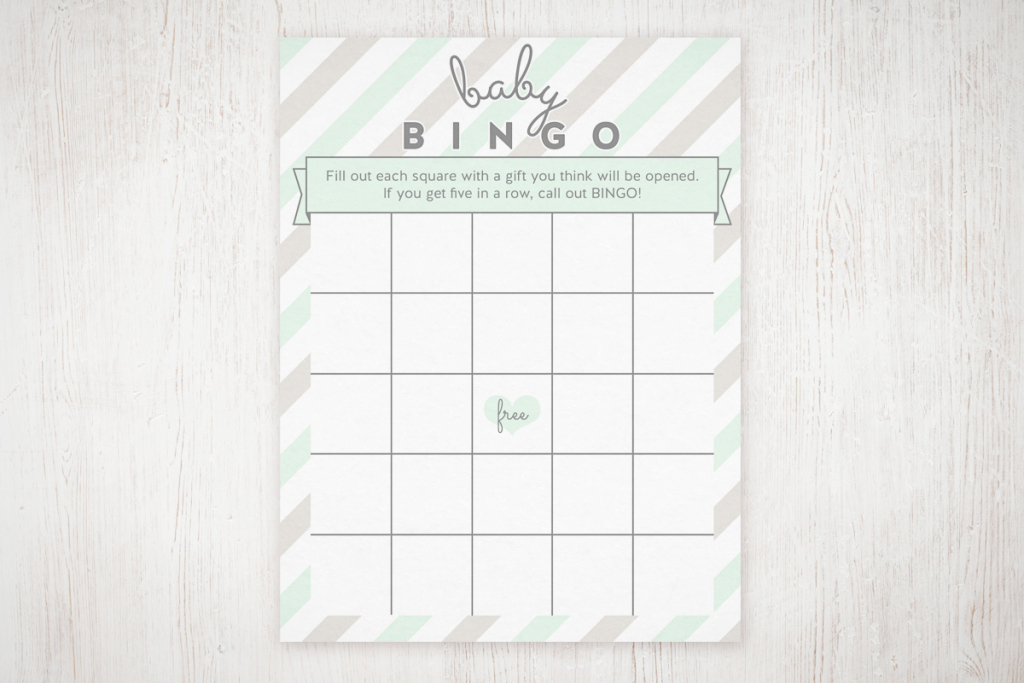 Fabulous Baby Shower Bingo Free Printable | The Little Umbrella regarding High Quality Free Baby Shower Bingo