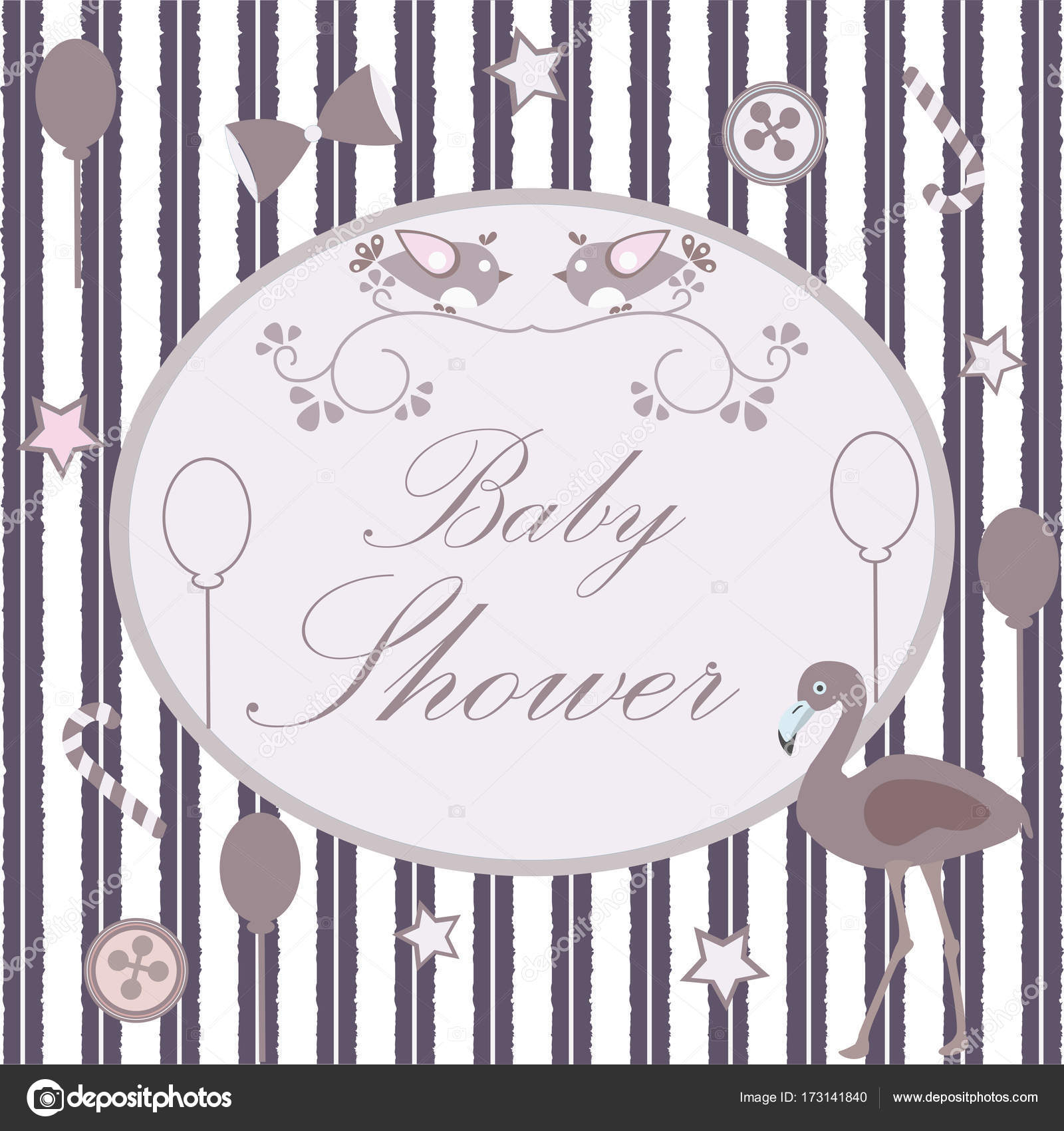 Fabulous Baby Shower Congratulations Card — Stock Vector © Crystal_Ray #173141840 pertaining to Baby Shower Congratulations