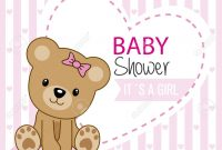 Fabulous Baby Shower Girl. Cute Bear Royalty Free Cliparts, Vectors, And intended for Good quality Baby Shower Images Girl
