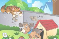 Fabulous Backyard With Cartoon Cat And Dog Royalty Free Cliparts, Vectors pertaining to Fresh Backyard Cartoon