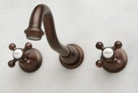 Fabulous Ballantine Wall-Mount Bathroom Faucet – Cross Handles – Bathroom inside Oil Rubbed Bronze Bathroom Sink Faucet