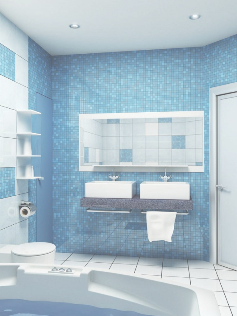 Fabulous Bathroom: Blue Mosaic Bathroom regarding Best of Blue Mosaic Bathroom