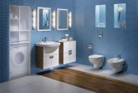 Fabulous Bathroom : Dark Blue Bathroom Tiles Paint Color For Design Navy with Blue Bathroom Photos
