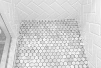 Glamorous Hexagon Bathroom Floor Tile