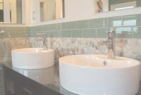 Fabulous Bathroom, Interesting Glass Tile Backsplash In Bathroom: Ocean regarding Awesome Bathroom Sink Backsplash