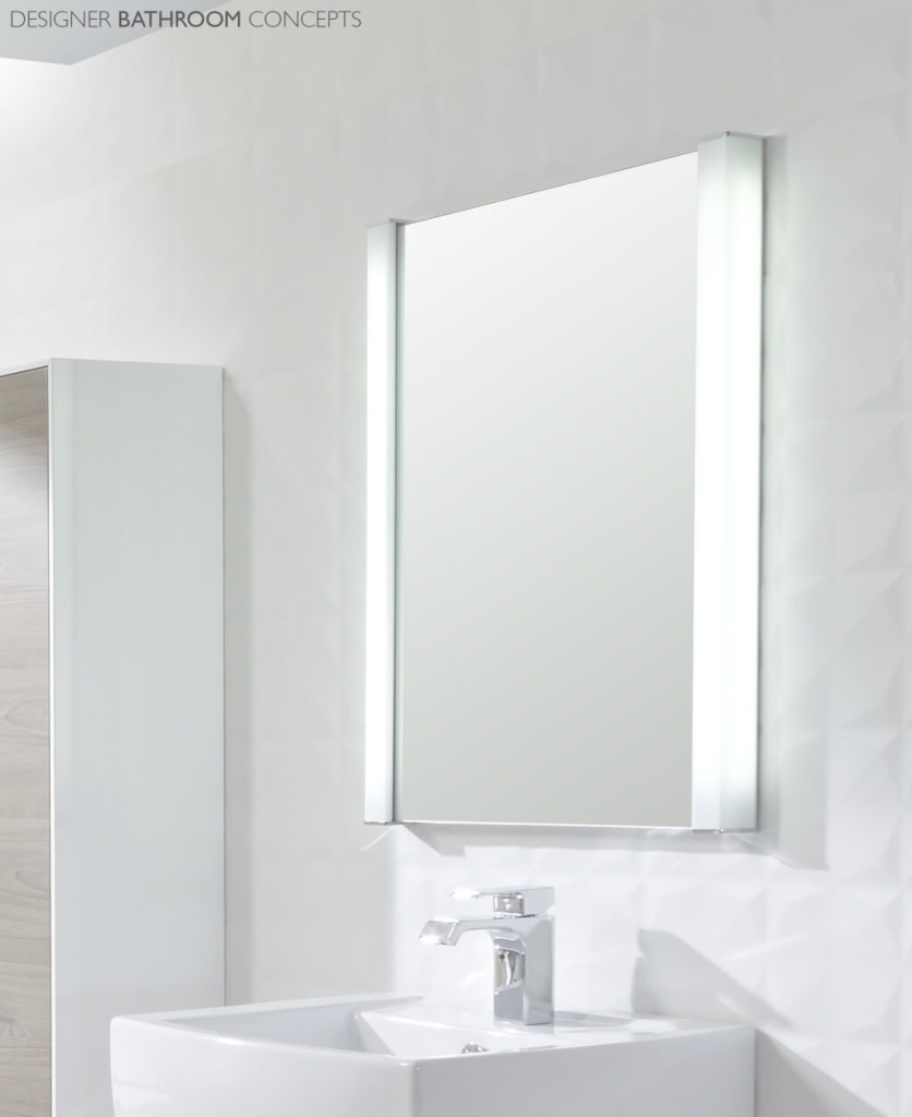 Fabulous Bathroom: Modern Minimalist Bathroom Mirror With Side Led Lighting with regard to Awesome Bathroom Mirror With Built In Light