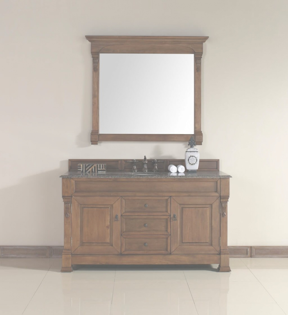 Fabulous Bathroom: Traditional Country Style Bathroom Vanity With Granite Top throughout Country Bathroom Vanities
