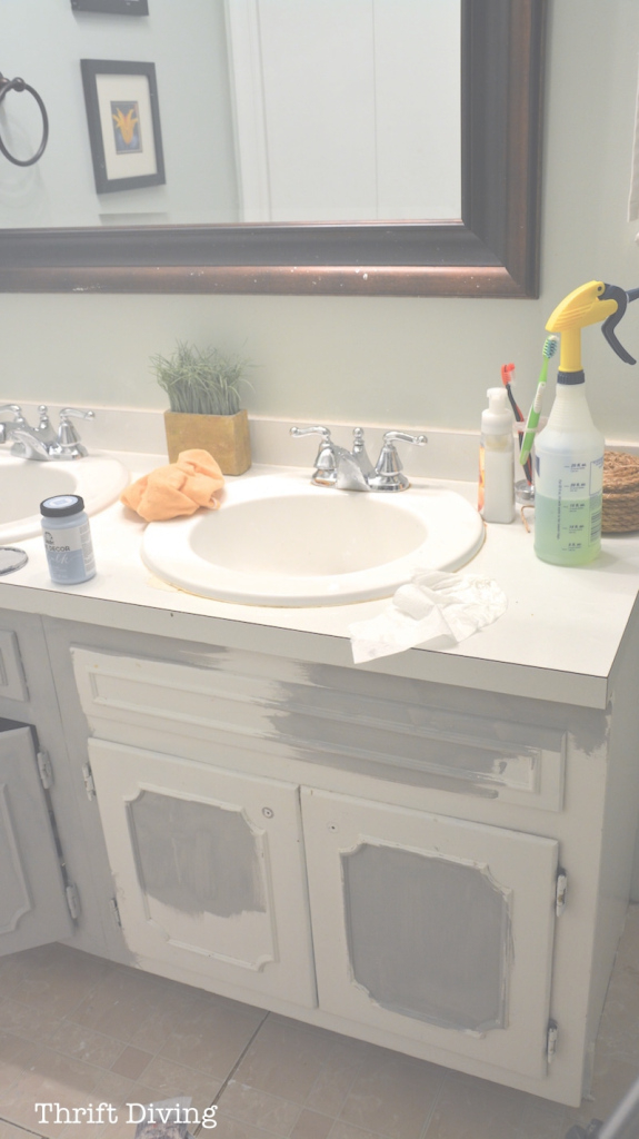 Fabulous Before & After: My Pretty Painted Bathroom Vanity for Unique Painted Bathroom Vanity