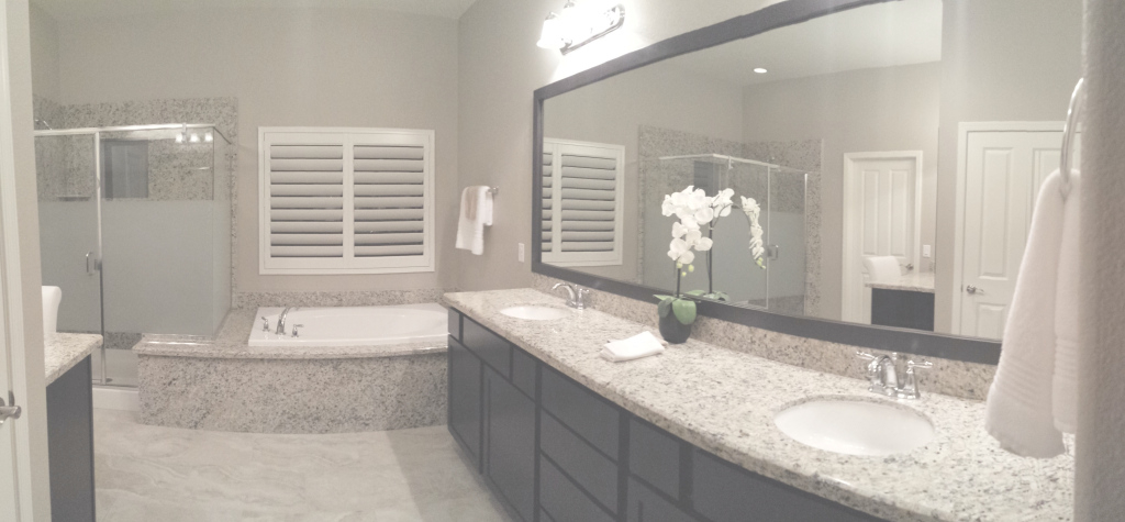 Fabulous Before And After: Customer Bathroom In Las Vegas | Frame My Mirror pertaining to High Quality Master Bathroom Mirrors