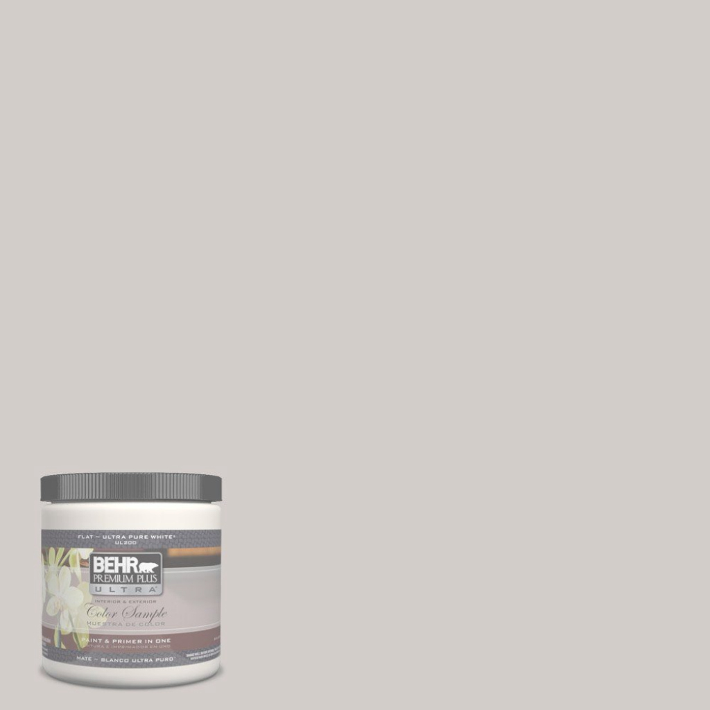Fabulous Behr Premium Plus Ultra 8 Oz. #ul260-10 Graceful Gray Matte Interior regarding Behr Paint Colors Gray