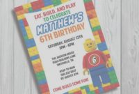 Fabulous Best Lego Baby Shower Invitations Free Lego Invitation Game Party intended for Lego Baby Shower