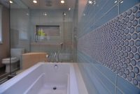 Fabulous Blue Tile And Accent Tile In An Evanston Bathroom Remodel. | Stratagem within Unique Blue Bathroom Remodel