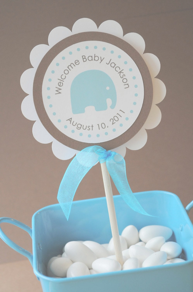 Fabulous Boy Baby Shower-Decoration Ideas-Use A Little Basket (Or Bowl Or pertaining to Review Boy Baby Shower Colors