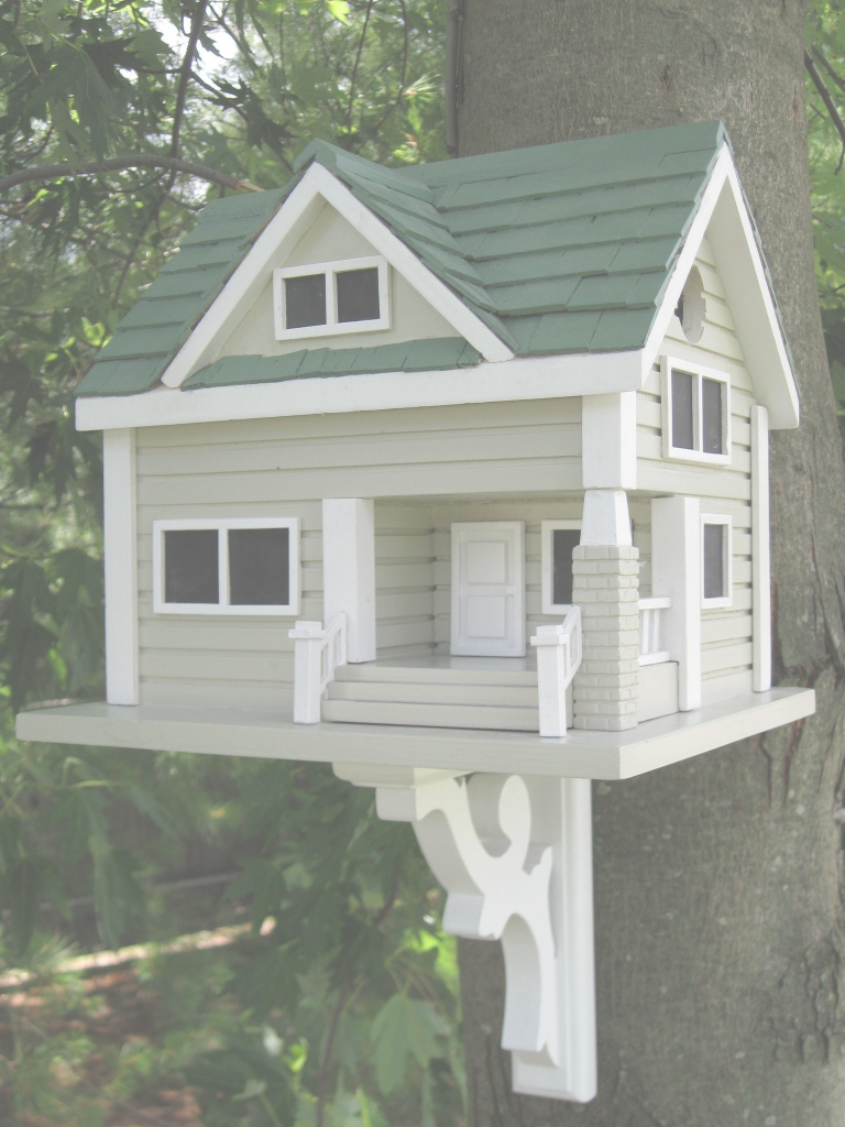 Fabulous Bungalow Birdhouse - Grey With Green Roof | Pinterest | Green Roofs inside Bungalows Foley Al