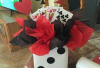 Fabulous Casino Themed Birthday Party Centerpiece … | Casino N… throughout Awesome Casino Theme Party Decorations