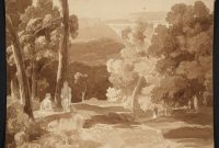 Fabulous Classical Landscape Composition With Two Figures. Sketching Club intended for Landscape Painting Composition