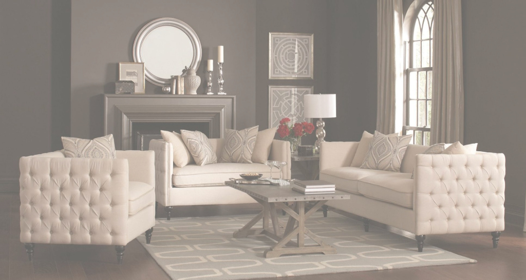 Fabulous Coaster Claxton Beige Living Room Set - Claxton Collection: 4 throughout Elegant Beige Living Room Set