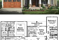 Fabulous Craftsman Style House Plan – 3 Beds 2.00 Baths 1509 Sq/ft Plan #21 intended for High Quality Bungalow Home Plans