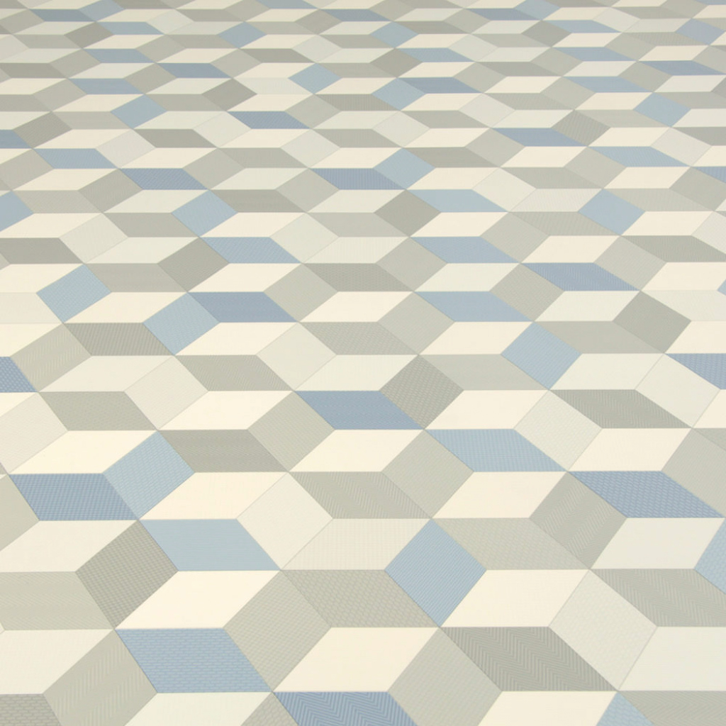 Fabulous Cube-It - Cubes Blue | Flooring Superstore regarding High Quality Blue Bathroom Lino