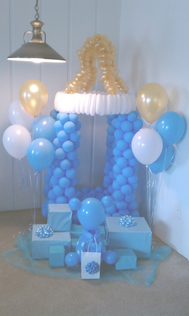 Fabulous Decoracion De Baby Shower Con Globos | Decorar Y Más | Bb with regard to Decoracion De Baby Shower De Niño