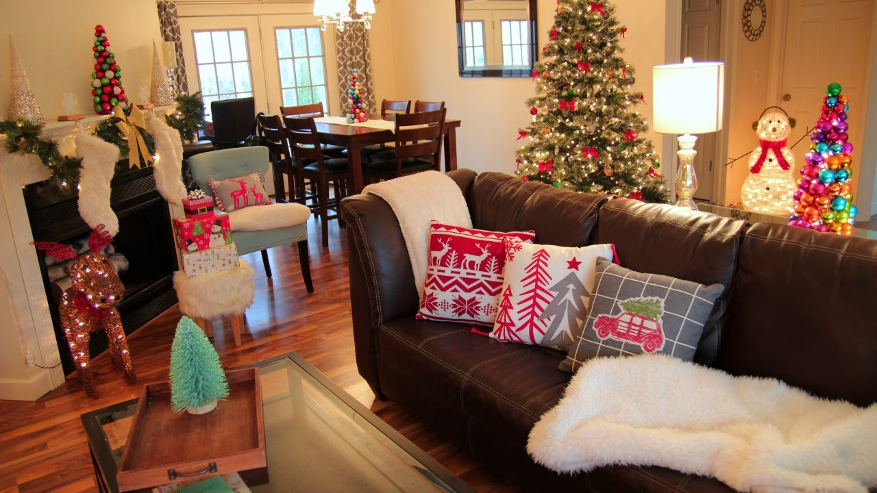 Fabulous Decorating For Christmas ❄ Christmas Living Room Tour - Youtube throughout Christmas Living Room