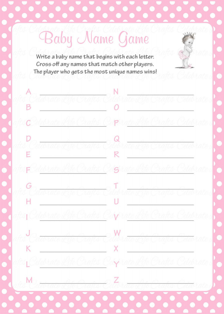 Fabulous Decoration Z Baby Shower Game To Answers Free Printable Template in Free Baby Shower Game Templates