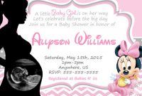 Fabulous Digital Baby Shower Invitations Printed Or Digital Baby Minnie Mouse inside Minnie Mouse Baby Shower Invitations