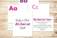 "Fabulous Diy Alphabet Book Baby Shower Activity Game 8.5X11"" Baby's First for Baby Shower Activities"