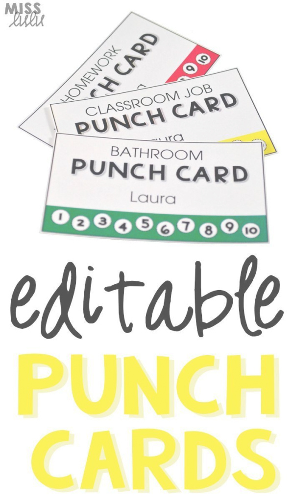 Fabulous Editable Punch Pass Cards | Pinterest | Bathroom Pass, Classroom pertaining to Best of Bathroom Pass Ideas