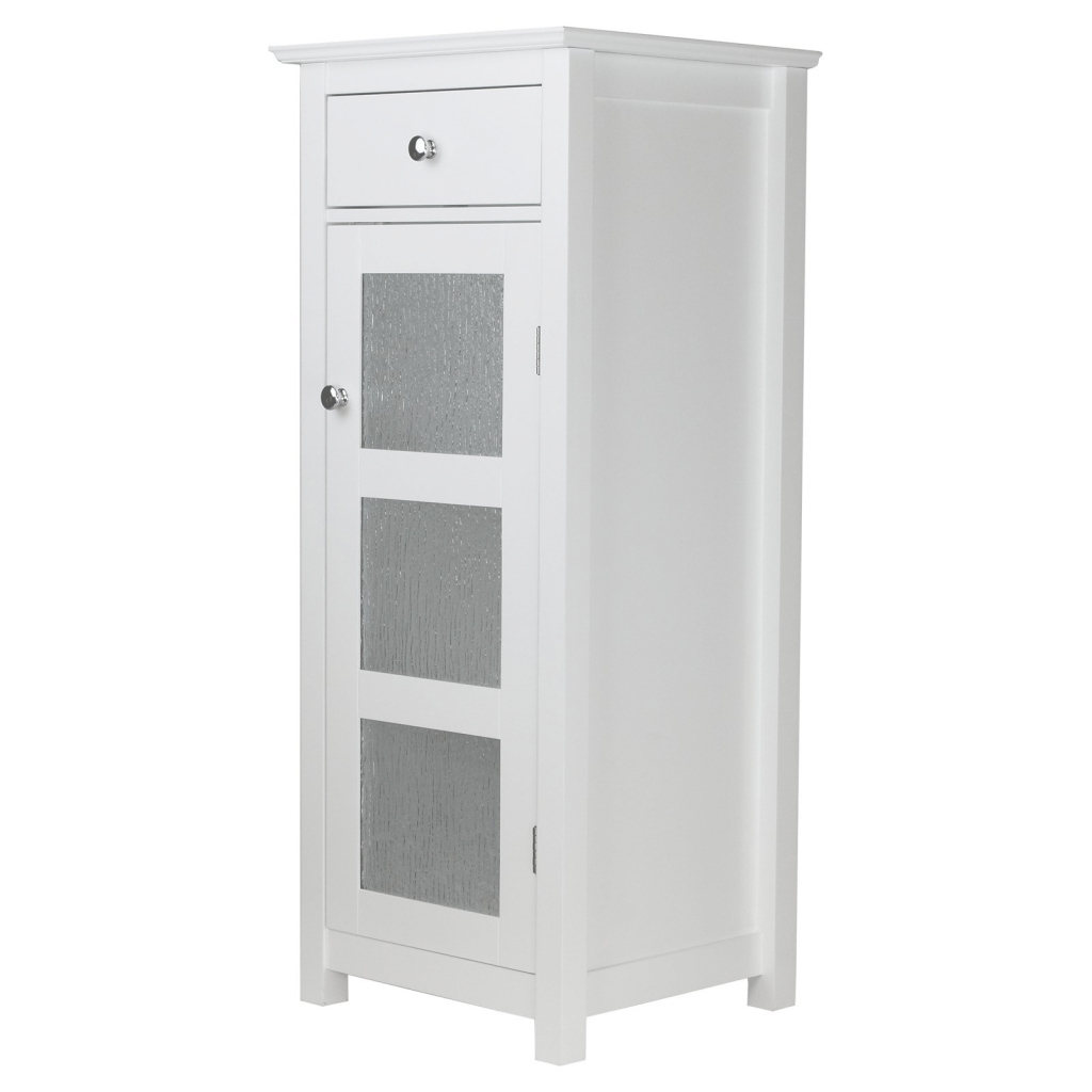 Fabulous Elegant Home Fashions Connor 1 Door Floor Cabinet With Drawer with regard to Bathroom Floor Cabinet White