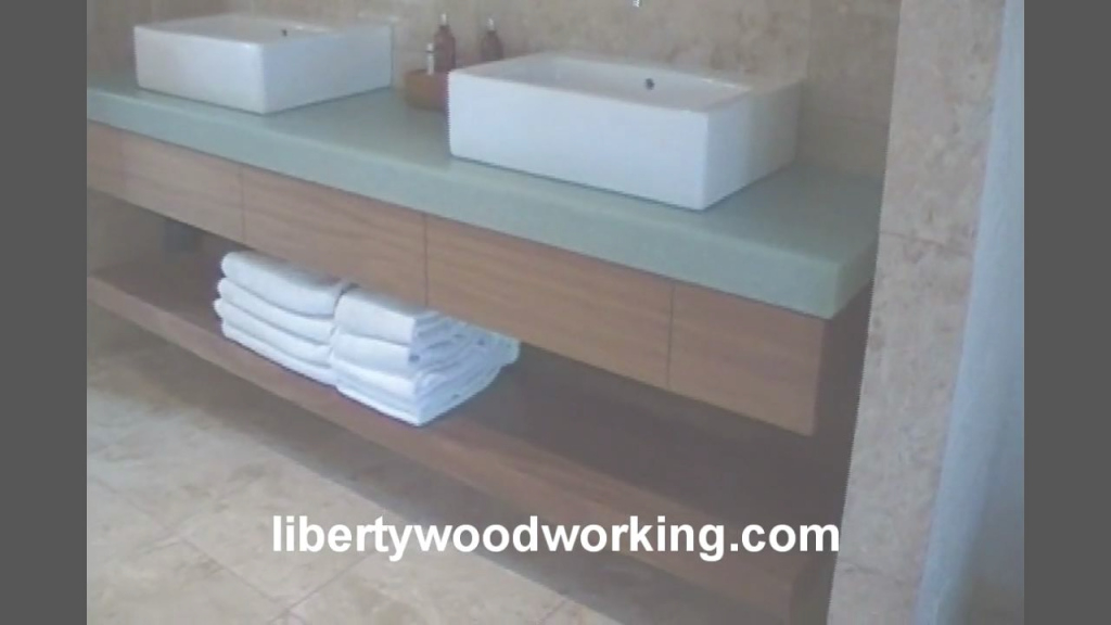 Fabulous Floating Bathroom Sink Vanity Cabinet - Youtube regarding Floating Bathroom Sink