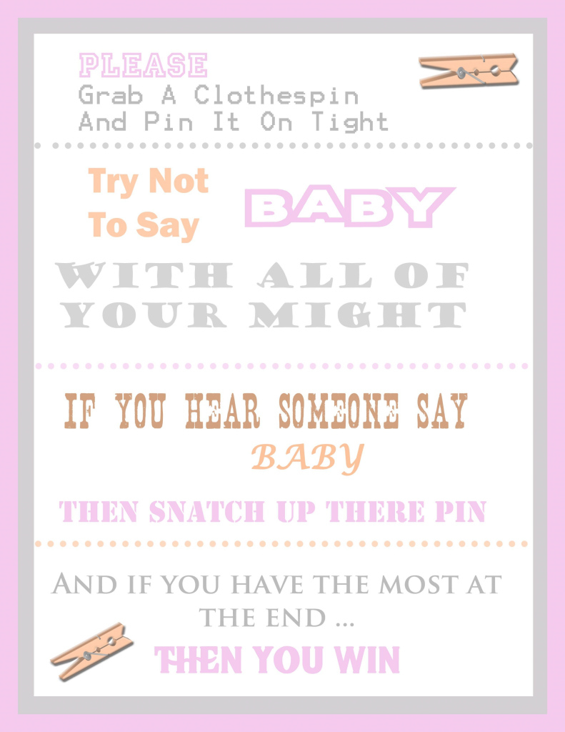 Fabulous Free Baby Shower Clothespin Game | Baby Shower | Pinterest | Baby in Unique Most Hilarious Baby Shower Games
