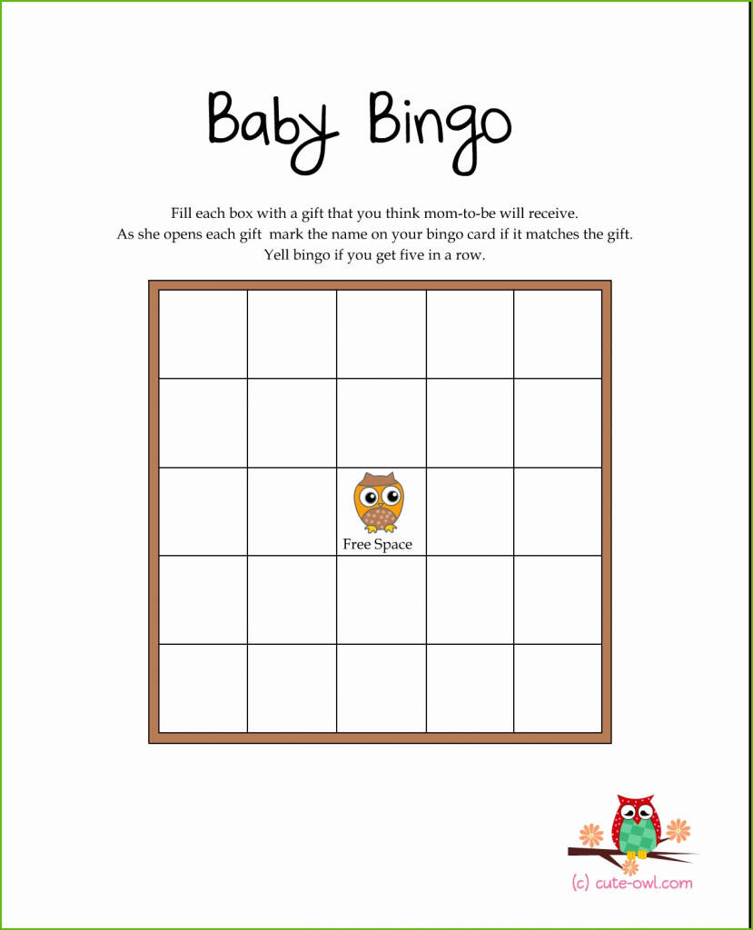 Fabulous Free Baby Shower Game Templates Fabulous Free Printable Owl Themed in Free Baby Shower Game Templates