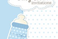 Fabulous Free Blue And Gold Invitation Templates Valid Baby Shower Invitation regarding Awesome Baby Shower Templates Free