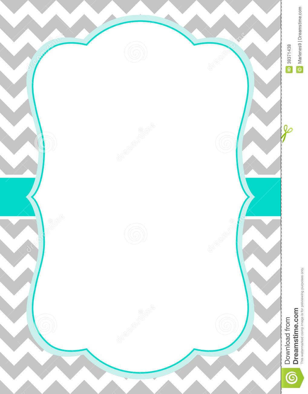 Fabulous Free Chevron Border Templateadmin Admin | Baby Shower Ideas within Unique Baby Shower Borders