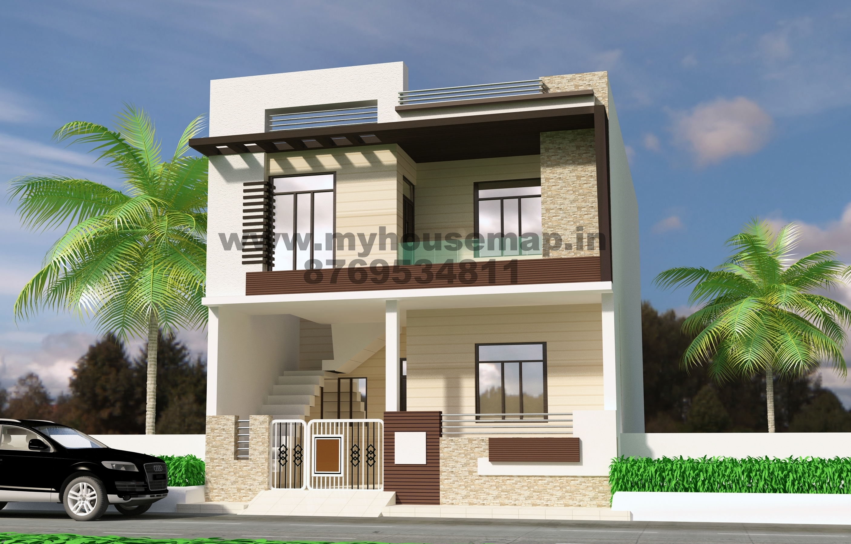 Fabulous Front Elevation Design Modern Duplex | Front Elevation Design House within Indian Home Elevation Design Photo Gallery