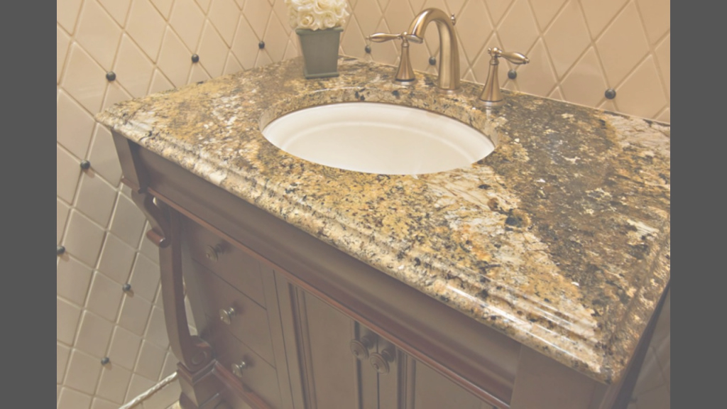 Fabulous Granite Bathroom Vanity Countertops - Youtube pertaining to Bathroom Vanity Countertops