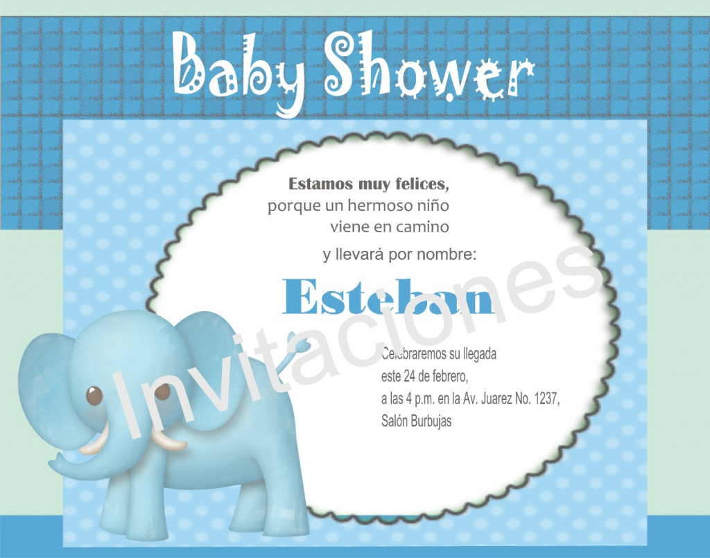Fabulous Great Invitaciones Para Baby Shower De Ni O 24 - Wyllieforgovernor intended for Invitaciones De Baby Shower Para Niño