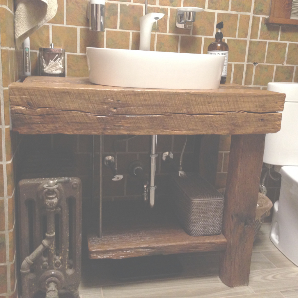 Fabulous Hand Crafted Rustic Bath Vanity - Reclaimed Barnwoodintelligent pertaining to Bathroom Vanity Rustic