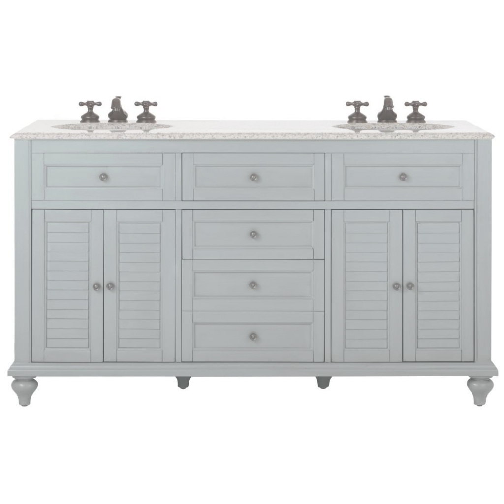Fabulous Home Decorators Collection Hamilton 61 In. W X 22 In. D Double Bath inside High Quality Double Bathroom Vanity