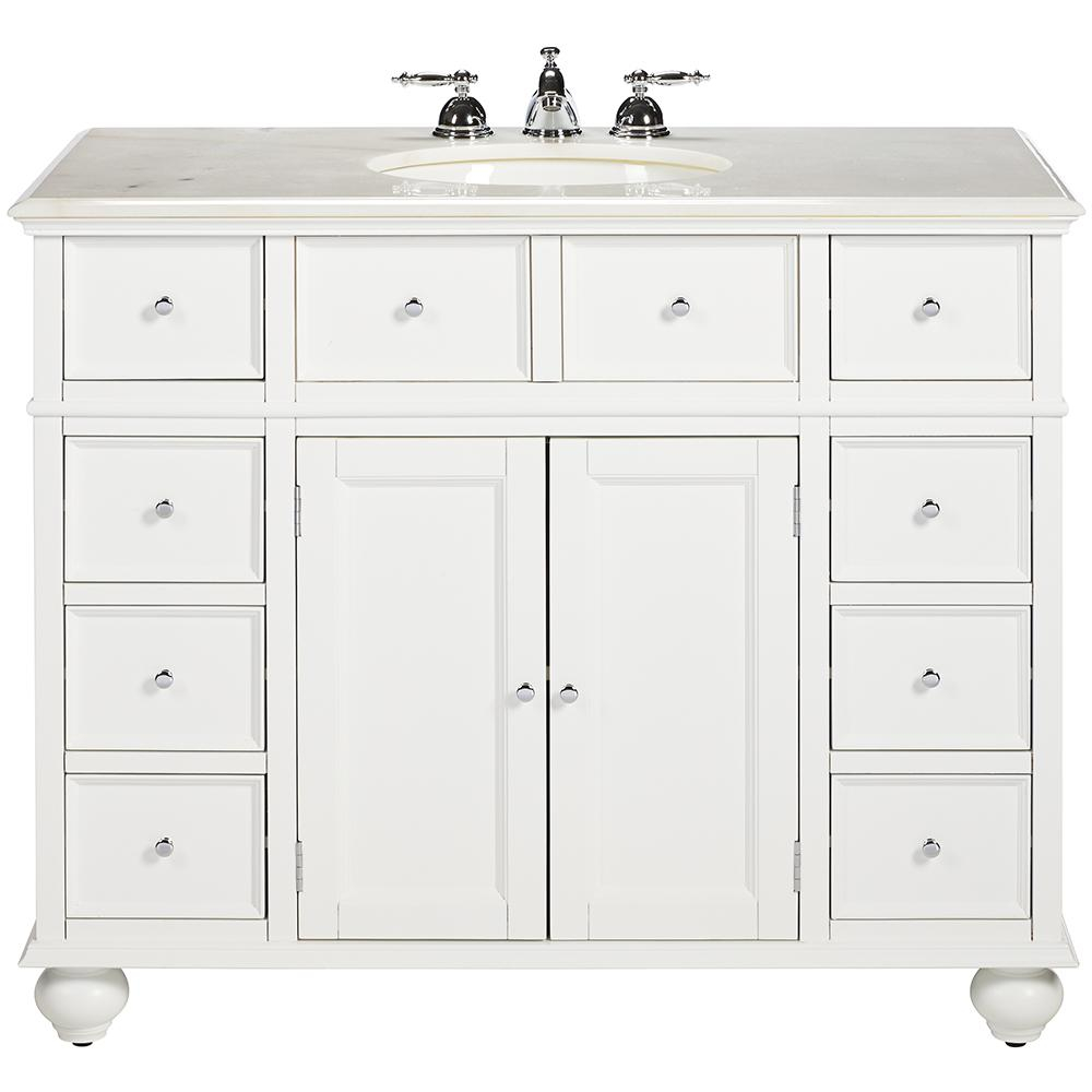 Fabulous Home Decorators Collection Hampton Harbor 44 In. W X 22 In. D Bath regarding 44 Bathroom Vanity