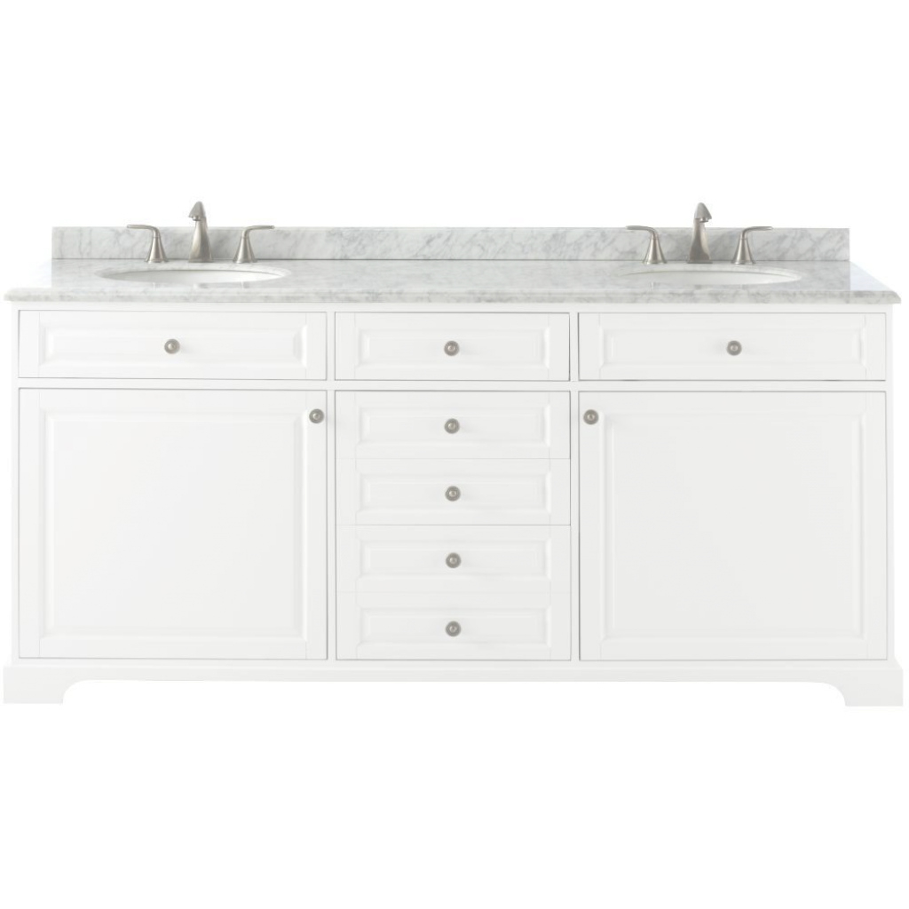 Fabulous Home Decorators Collection Highclere 72 In. W X 22 In. D Double Bath throughout Lovely 72 Bathroom Vanities