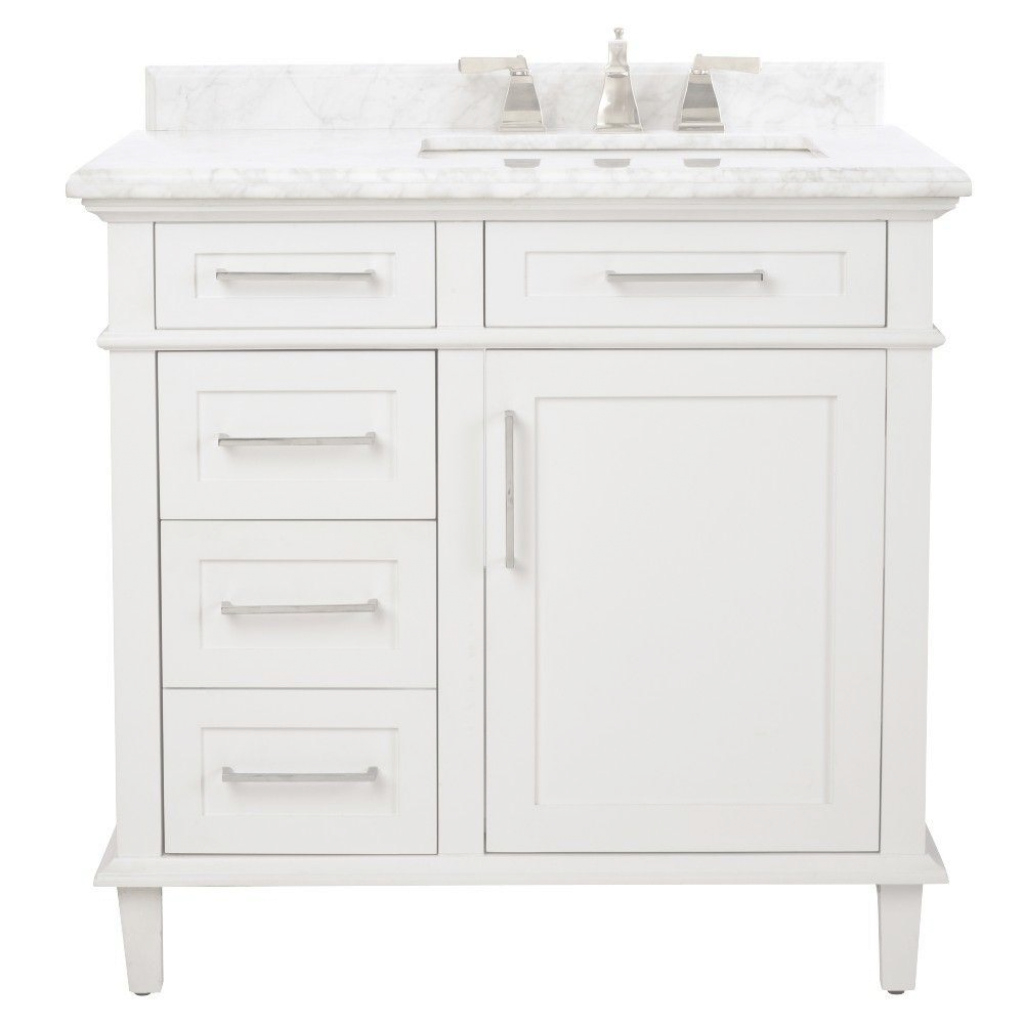 Fabulous Home Decorators Collection Sonoma 36 In. W X 22 In. D Bath Vanity In inside Elegant White Bathroom Vanity Home Depot