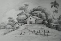 Fabulous How To Draw Easy And Simple Landscape For Beginners With Pencil inside High Quality Landscape Drawing Ideas