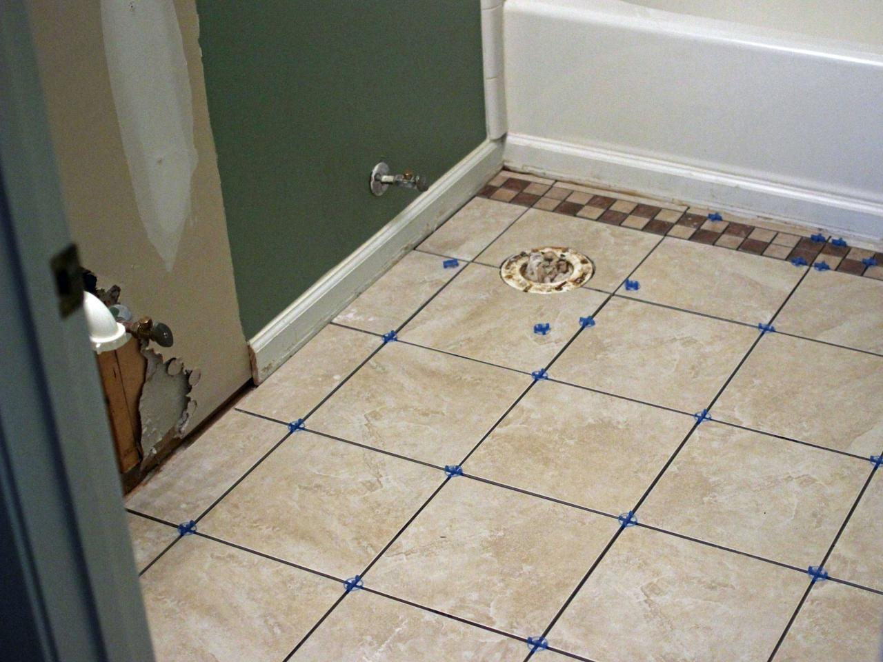 Fabulous How To Install Bathroom Floor Tile | How-Tos | Diy intended for Flooring For Bathrooms